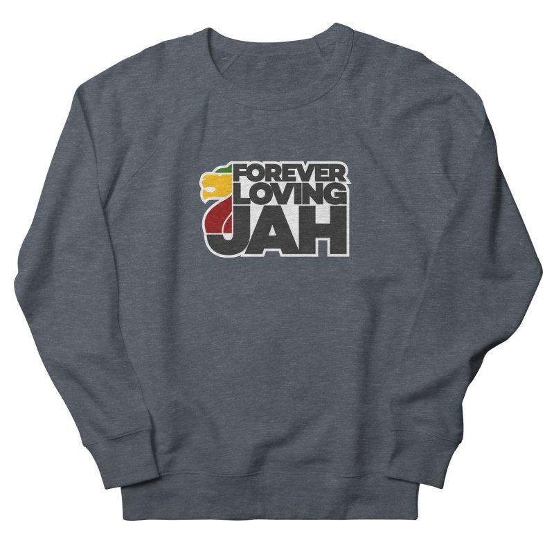 Forever Loving Jah Men's French Terry Sweatshirt by Rasta University Shop