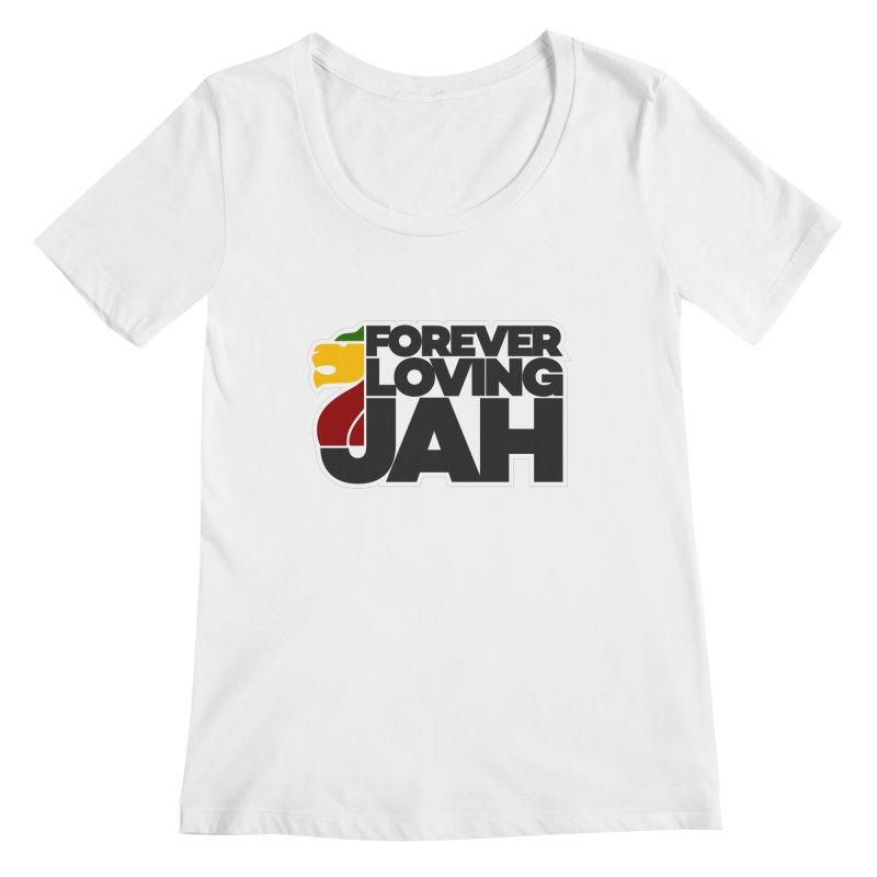 Forever Loving Jah Women's Regular Scoop Neck by Rasta University Shop