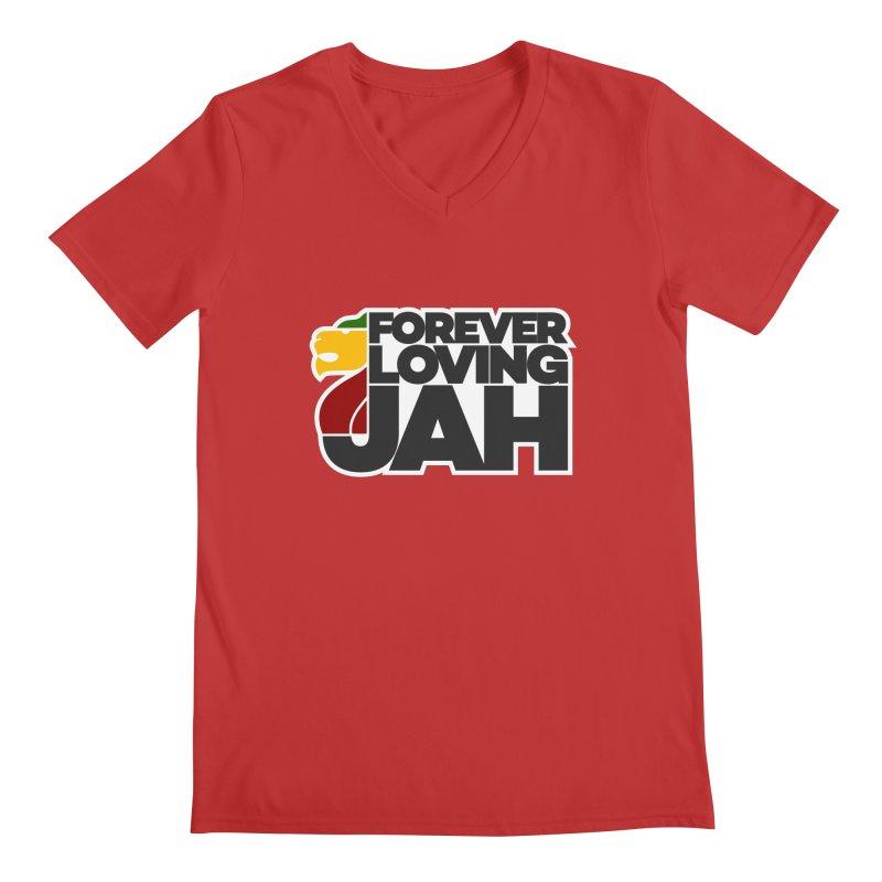 Forever Loving Jah Men's Regular V-Neck by Rasta University Shop
