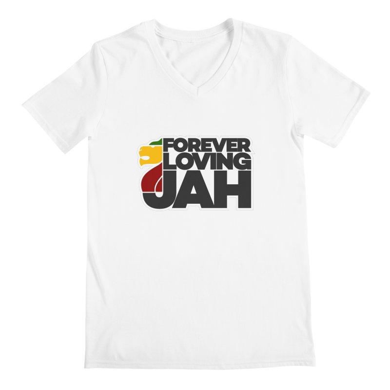 Forever Loving Jah Men's V-Neck by Rasta University Shop