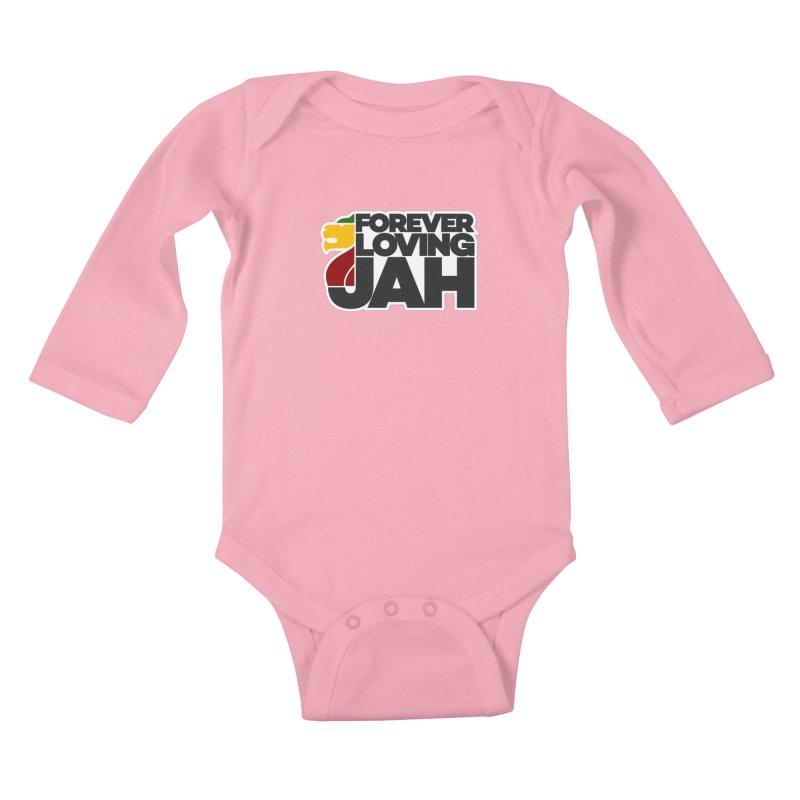 Forever Loving Jah Kids Baby Longsleeve Bodysuit by Rasta University Shop