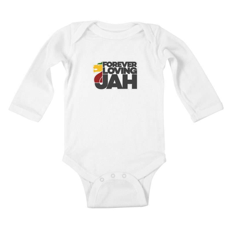 Forever Loving Jah Kids Baby Longsleeve Bodysuit by Rasta University Shop