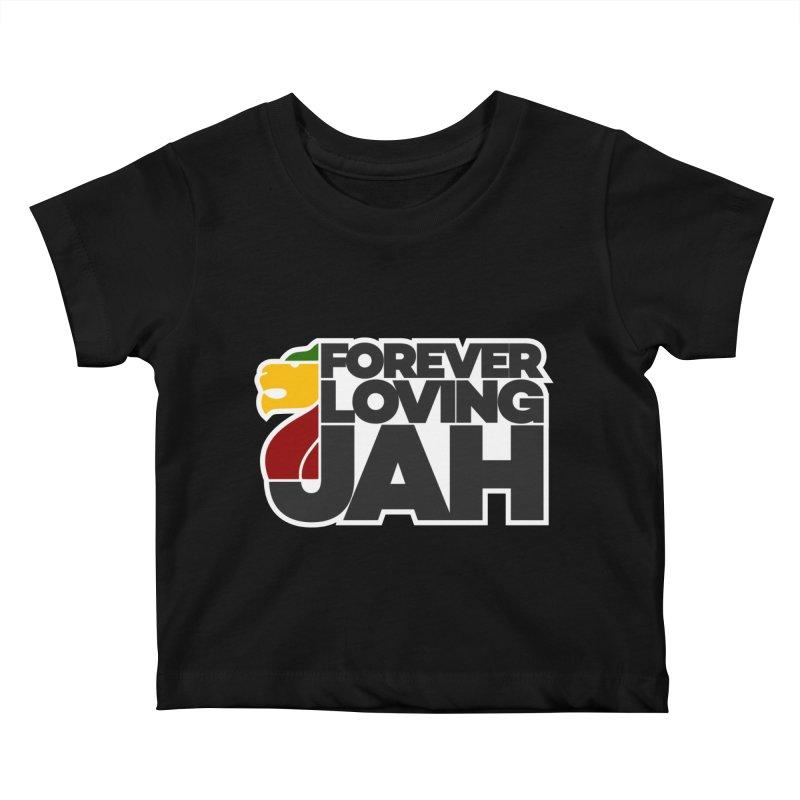 Forever Loving Jah Kids Baby T-Shirt by Rasta University Shop