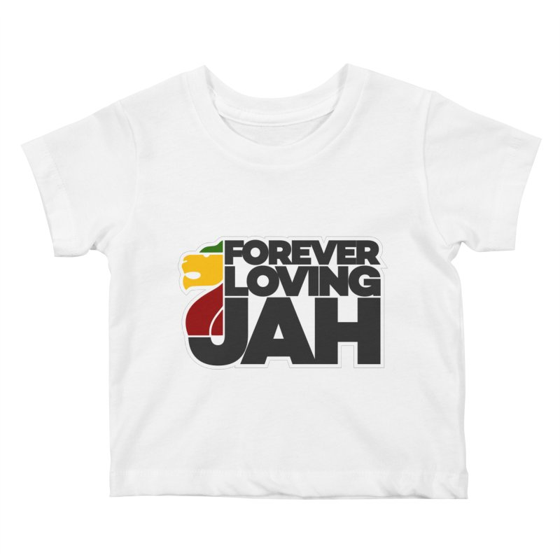Forever Loving Jah Kids Baby T-Shirt by Rasta University Shop