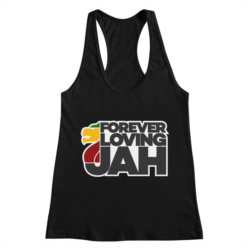 Forever Loving Jah Women's Racerback Tank by Rasta University Shop