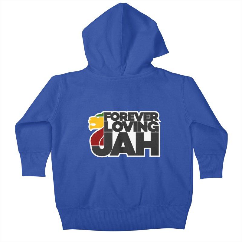Forever Loving Jah Kids Baby Zip-Up Hoody by Rasta University Shop
