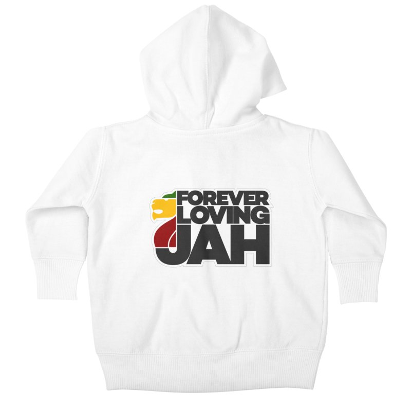 Forever Loving Jah Kids Baby Zip-Up Hoody by Rasta University Shop