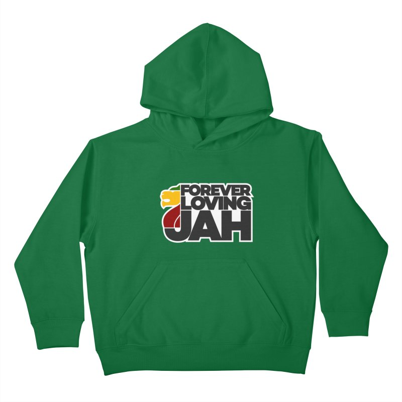Forever Loving Jah Kids Pullover Hoody by Rasta University Shop