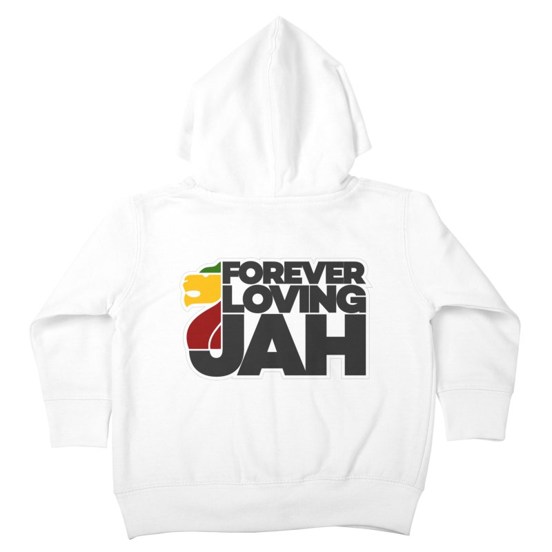 Forever Loving Jah Kids Toddler Zip-Up Hoody by Rasta University Shop