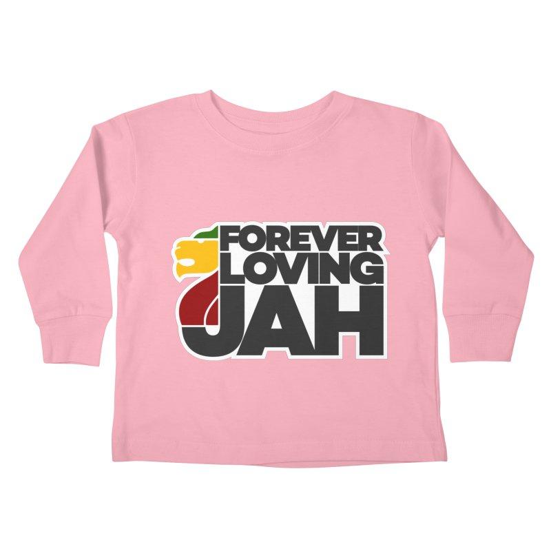 Forever Loving Jah Kids Toddler Longsleeve T-Shirt by Rasta University Shop