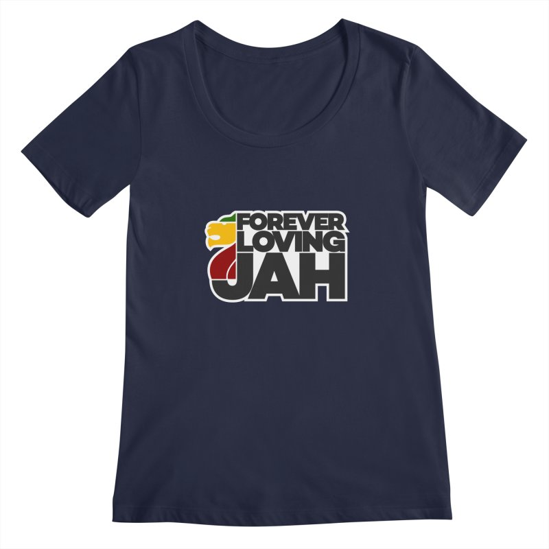 Forever Loving Jah Women's Scoopneck by Rasta University Shop