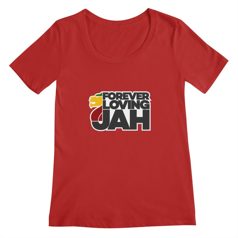 Forever Loving Jah Women's Scoopneck by Rasta University Shop