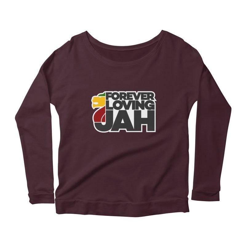 Forever Loving Jah Women's Longsleeve Scoopneck  by Rasta University Shop