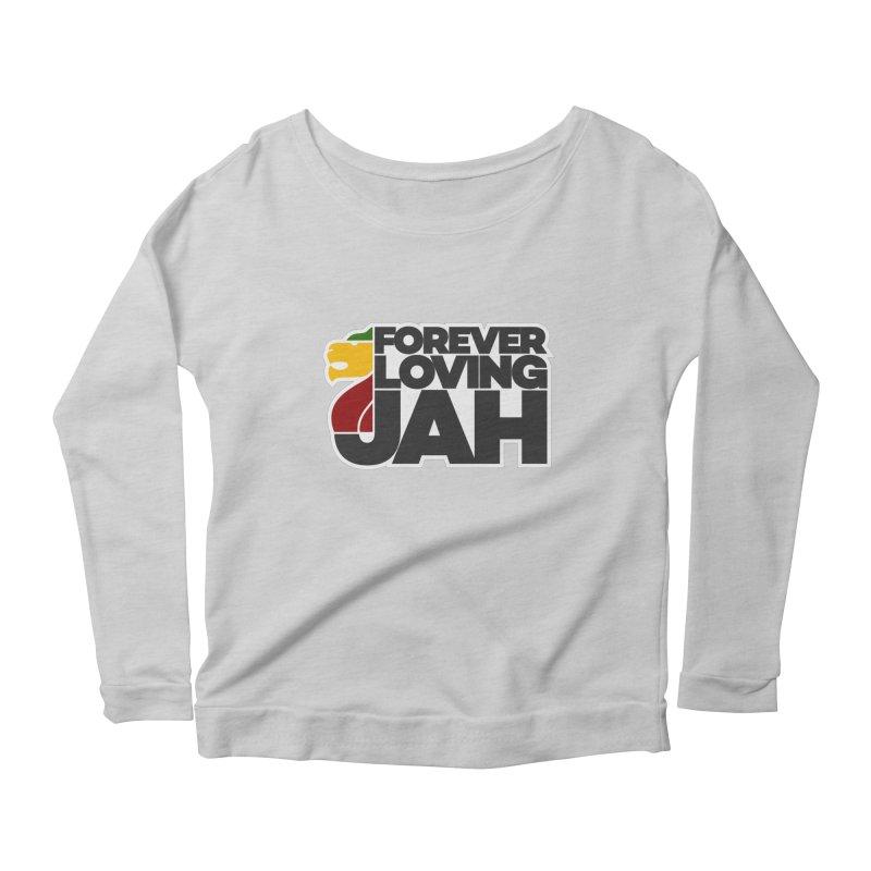 Forever Loving Jah Women's Scoop Neck Longsleeve T-Shirt by Rasta University Shop