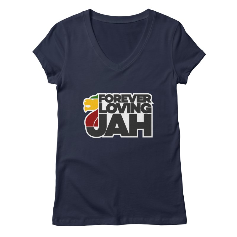 Forever Loving Jah Women's V-Neck by Rasta University Shop