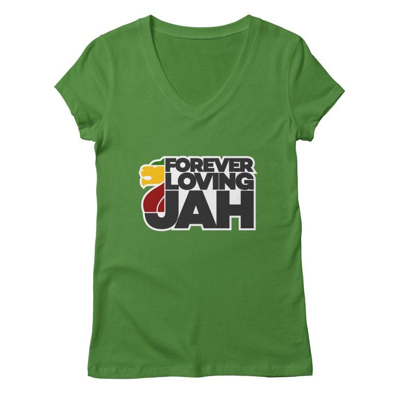 Forever Loving Jah Women's Regular V-Neck by Rasta University Shop