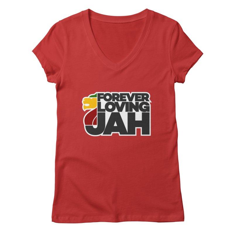 Forever Loving Jah Women's V-Neck by Rasta University Shop