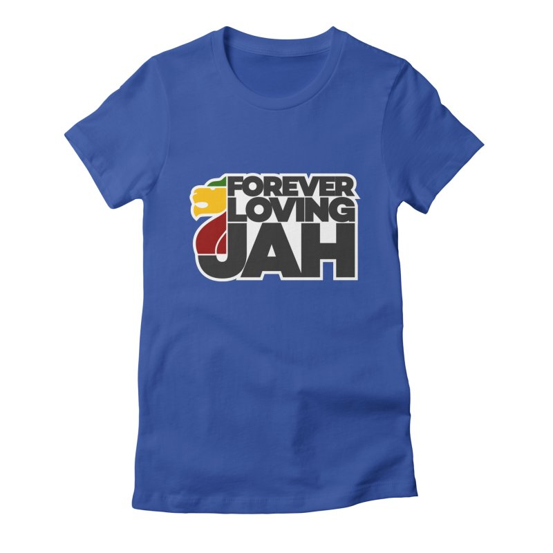 Forever Loving Jah Women's Fitted T-Shirt by Rasta University Shop