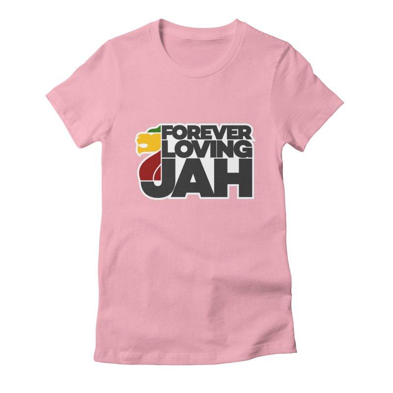 Forever Loving Jah Women's Fitted T-Shirt by Rasta University Shop