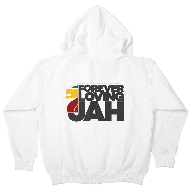 Forever Loving Jah Kids Zip-Up Hoody by Rasta University Shop