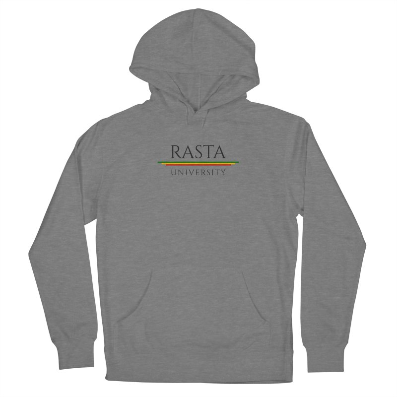 Dark Rasta University Logo Men's French Terry Pullover Hoody by Rasta University Shop