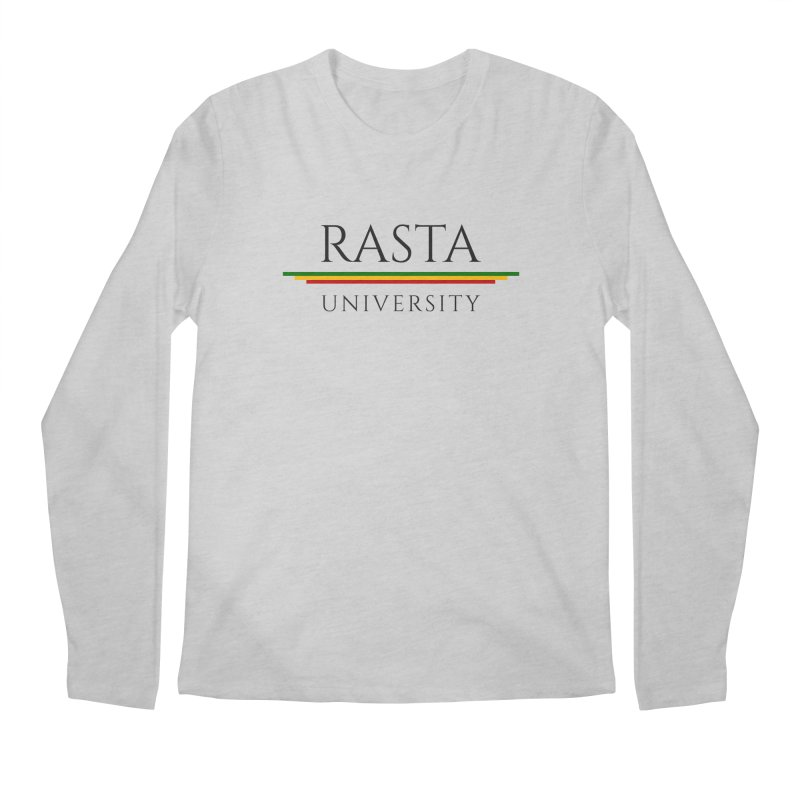 Dark Rasta University Logo Men's Regular Longsleeve T-Shirt by Rasta University Shop