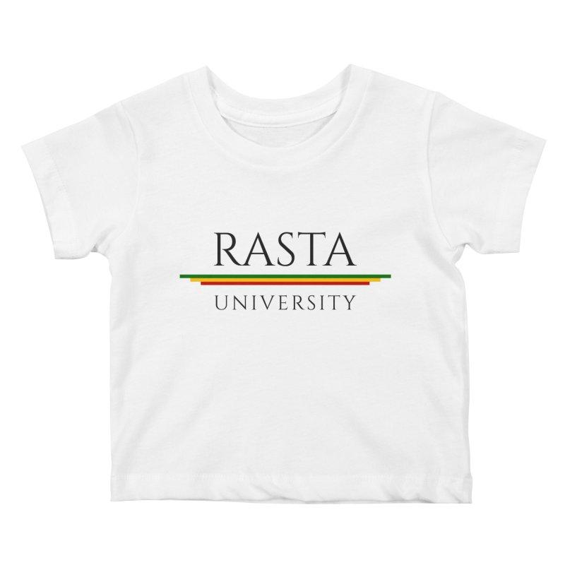 Dark Rasta University Logo Kids Baby T-Shirt by Rasta University Shop