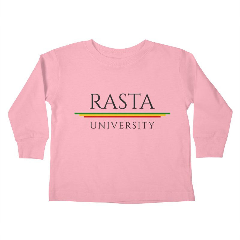 Dark Rasta University Logo Kids Toddler Longsleeve T-Shirt by Rasta University Shop