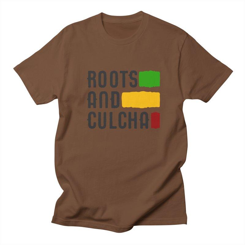 Roots and Culcha (Dark) Men's T-Shirt by Rasta University Shop