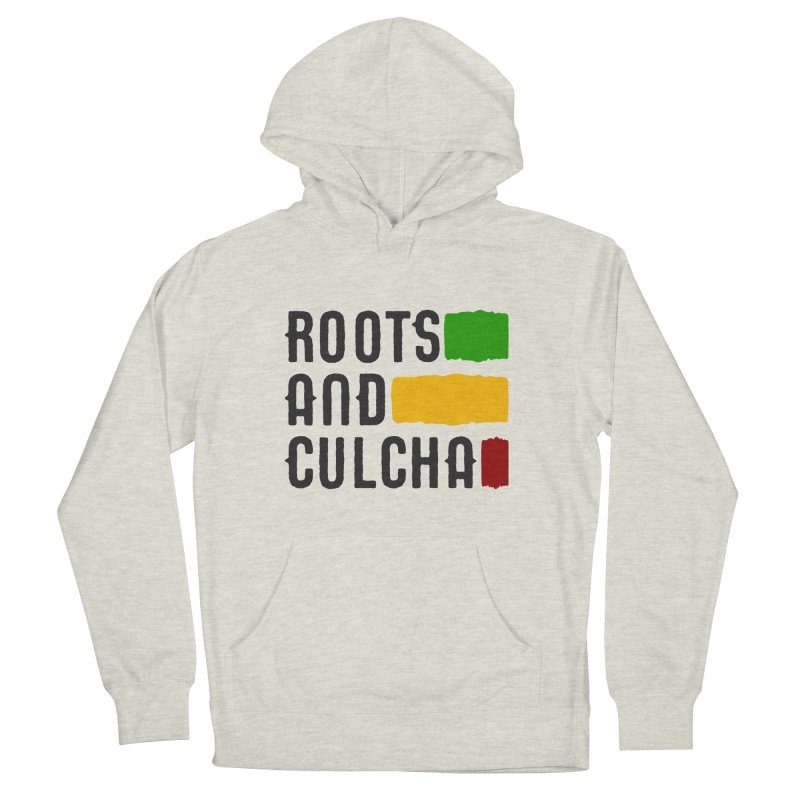 Roots and Culcha (Dark) Men's French Terry Pullover Hoody by Rasta University Shop