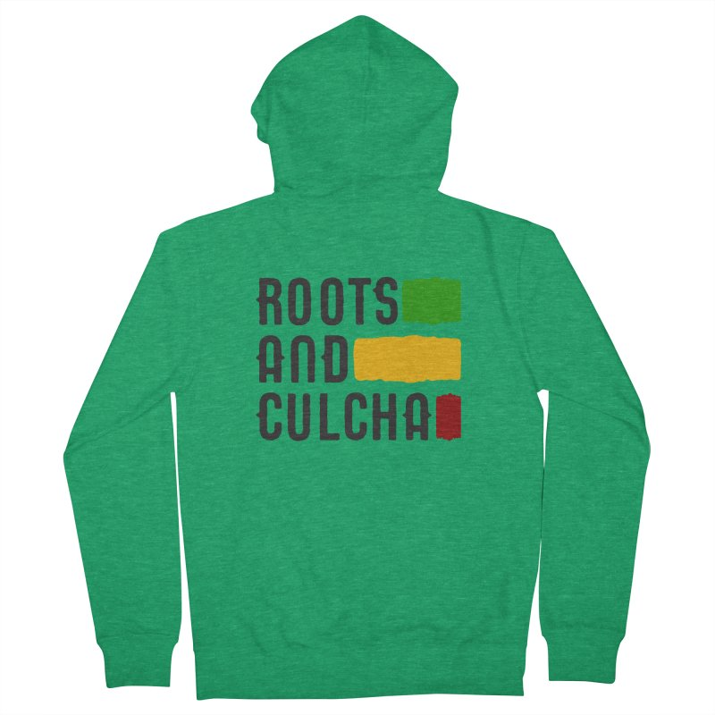 Roots and Culcha (Dark) Women's French Terry Zip-Up Hoody by Rasta University Shop