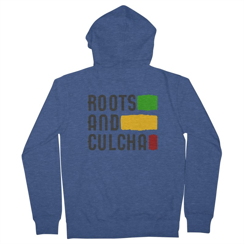 Roots and Culcha (Dark) Men's French Terry Zip-Up Hoody by Rasta University Shop