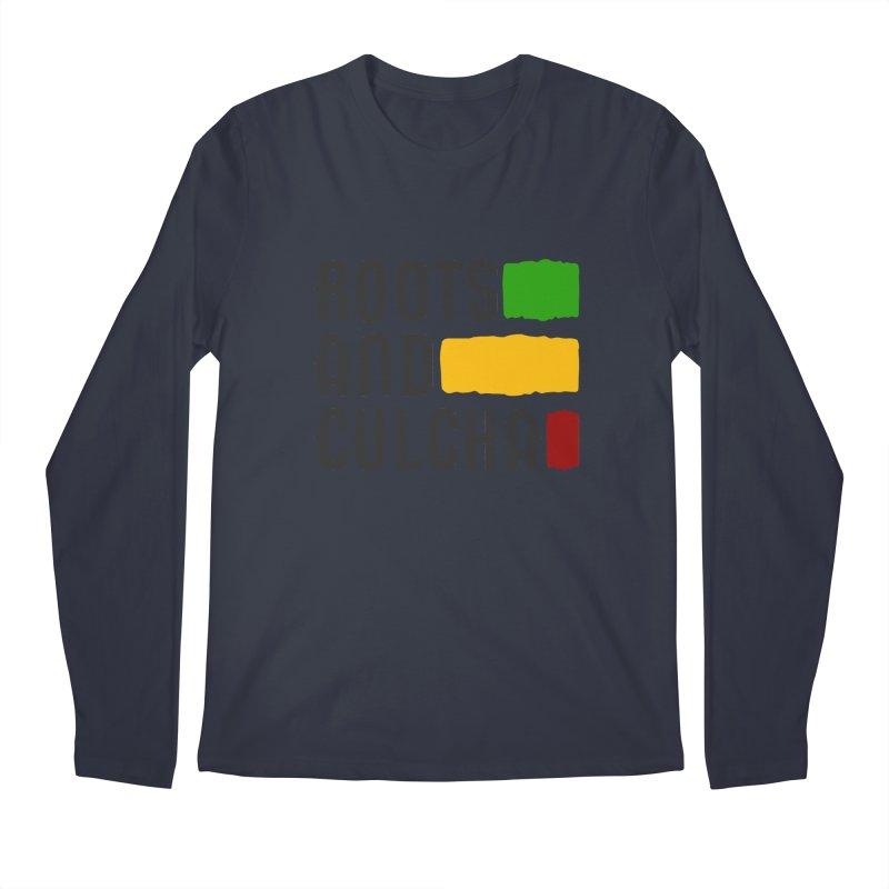 Roots and Culcha (Dark) Men's Regular Longsleeve T-Shirt by Rasta University Shop