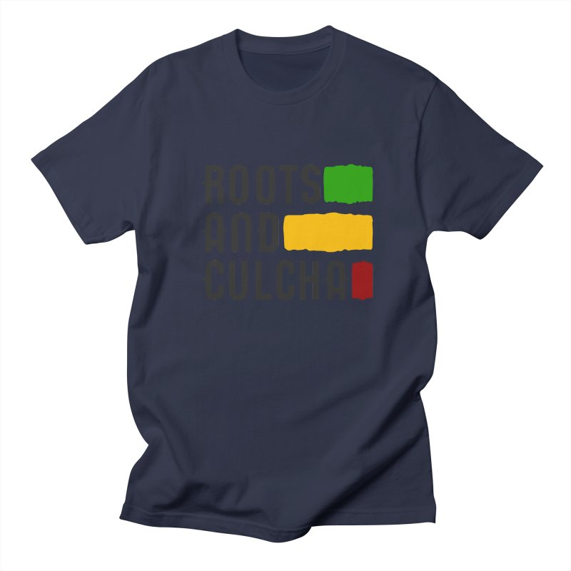 Roots and Culcha (Dark) Men's T-shirt by Rasta University Shop