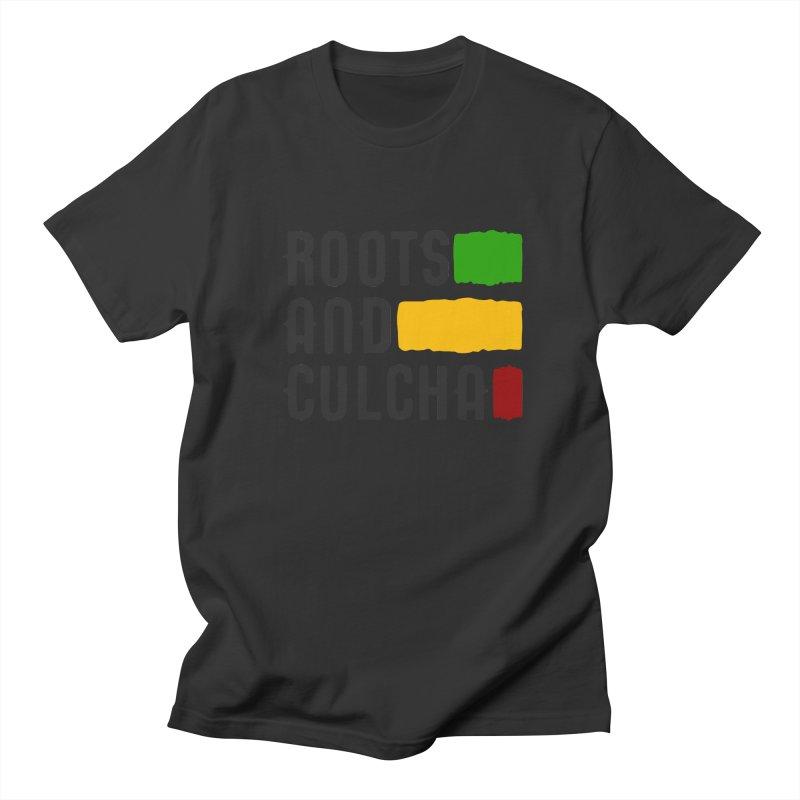 Roots and Culcha (Dark) Men's Regular T-Shirt by Rasta University Shop