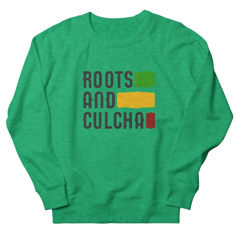Roots and Culcha (Dark) Women's French Terry Sweatshirt by Rasta University Shop