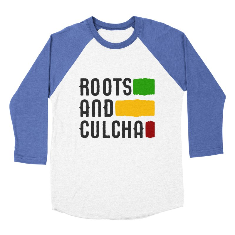 Roots and Culcha (Dark) Women's Baseball Triblend Longsleeve T-Shirt by Rasta University Shop