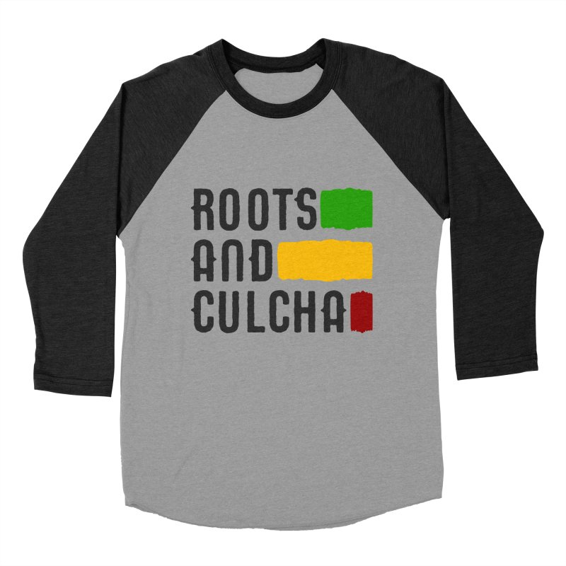 Roots and Culcha (Dark) Women's Baseball Triblend T-Shirt by Rasta University Shop