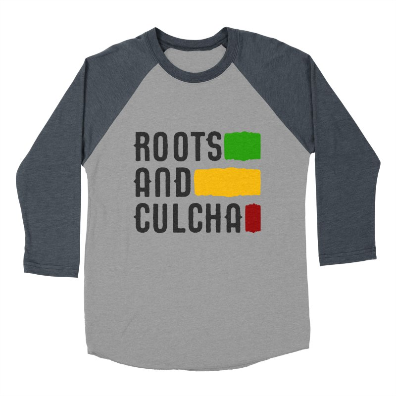 Roots and Culcha (Dark) Women's Baseball Triblend Longsleeve T-Shirt by Rasta University Shop