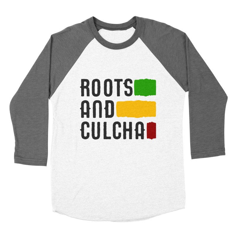 Roots and Culcha (Dark) Men's Baseball Triblend Longsleeve T-Shirt by Rasta University Shop
