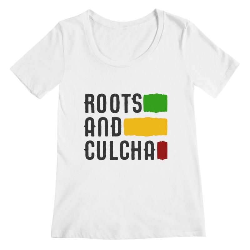 Roots and Culcha (Dark) Women's Regular Scoop Neck by Rasta University Shop