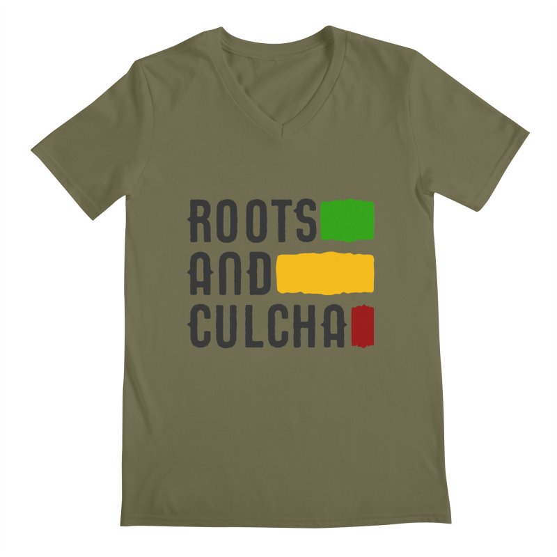 Roots and Culcha (Dark) Men's V-Neck by Rasta University Shop
