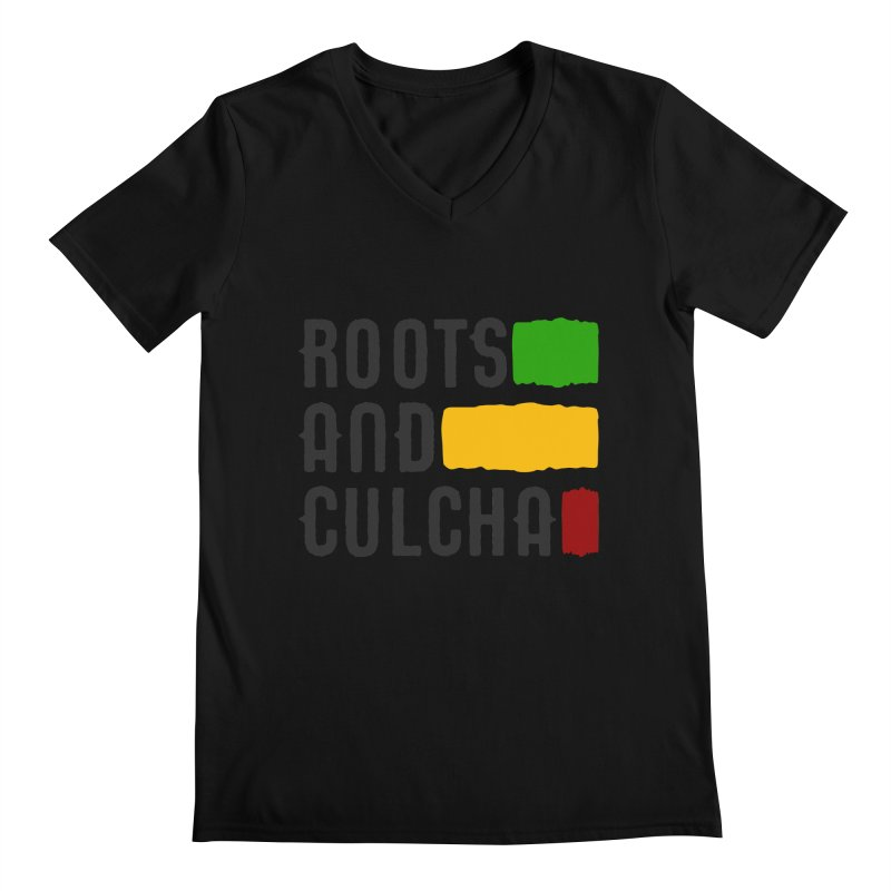 Roots and Culcha (Dark) Men's Regular V-Neck by Rasta University Shop