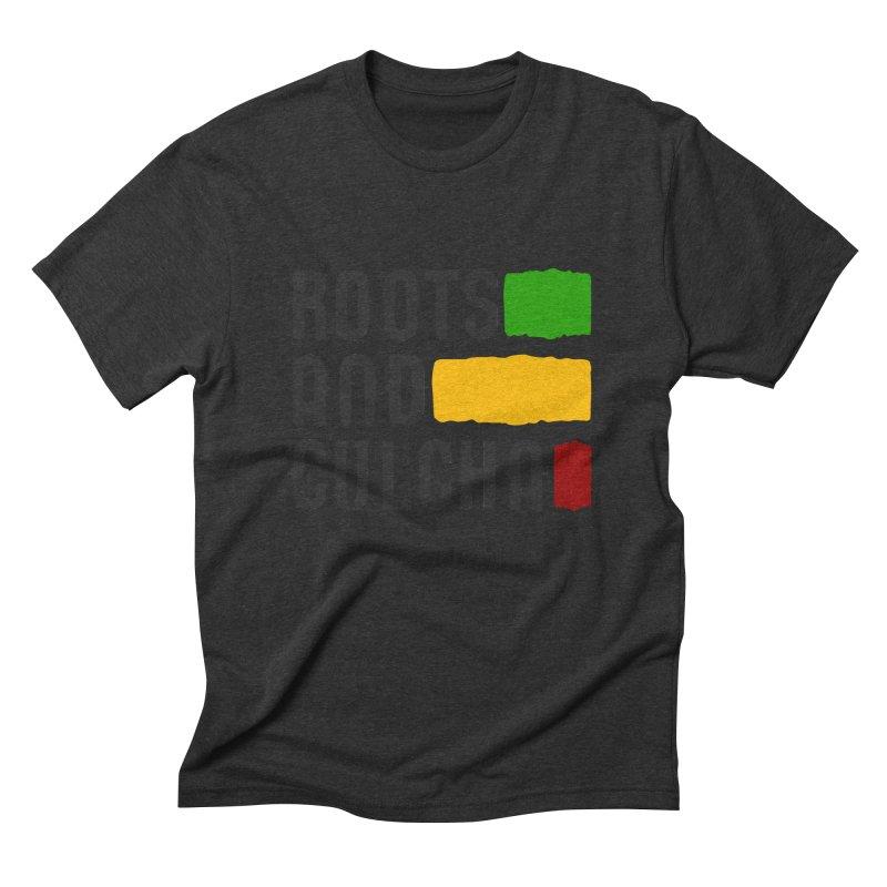 Roots and Culcha (Dark) Men's Triblend T-shirt by Rasta University Shop