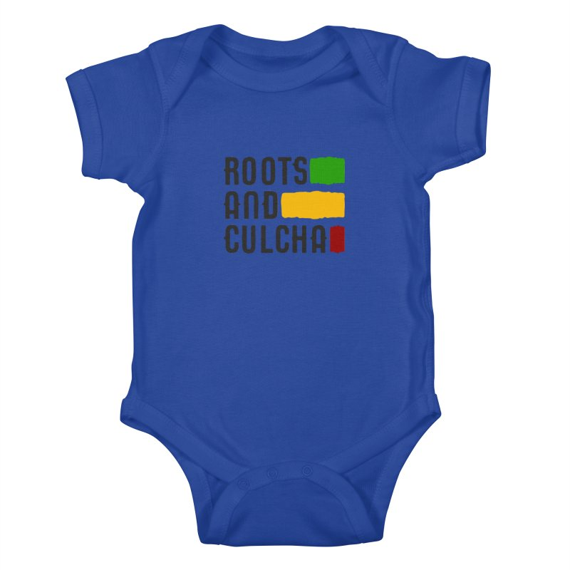 Roots and Culcha (Dark) Kids Baby Bodysuit by Rasta University Shop