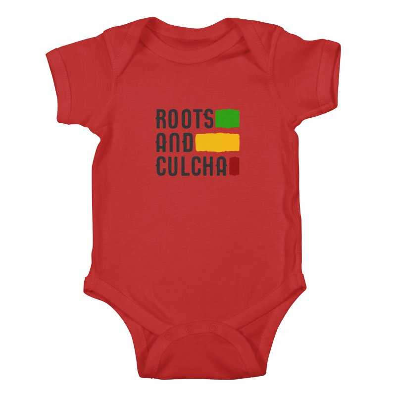 Roots and Culcha (Dark) Kids Baby Bodysuit by Rasta University Shop