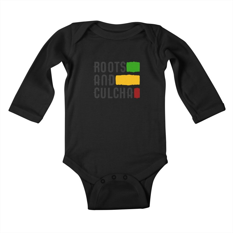 Roots and Culcha (Dark) Kids Baby Longsleeve Bodysuit by Rasta University Shop