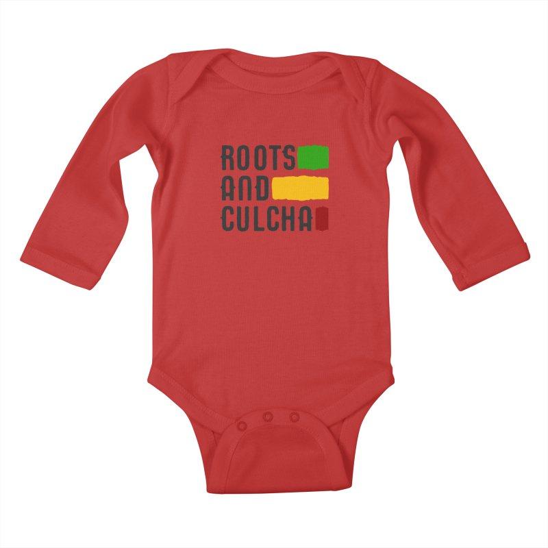 Roots and Culcha (Dark) Kids Baby Longsleeve Bodysuit by Rasta University Shop