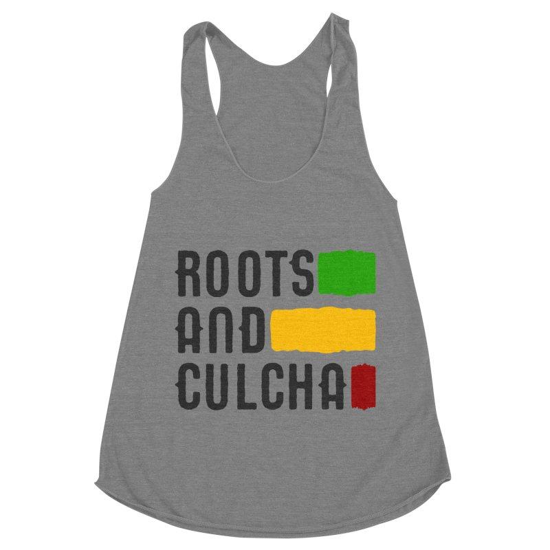Roots and Culcha (Dark) Women's Racerback Triblend Tank by Rasta University Shop