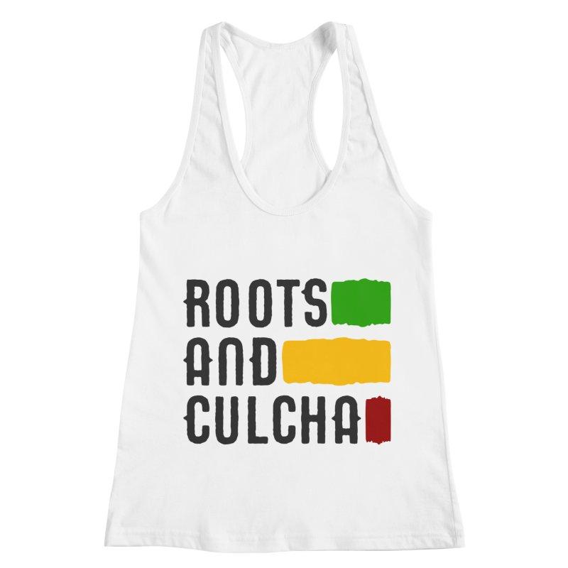 Roots and Culcha (Dark) Women's Racerback Tank by Rasta University Shop